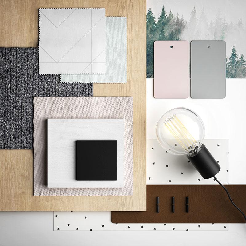 moodboard materiali nordico
