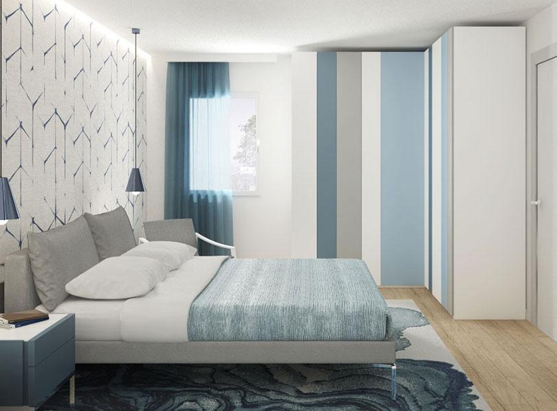rendering camera da letto Community House