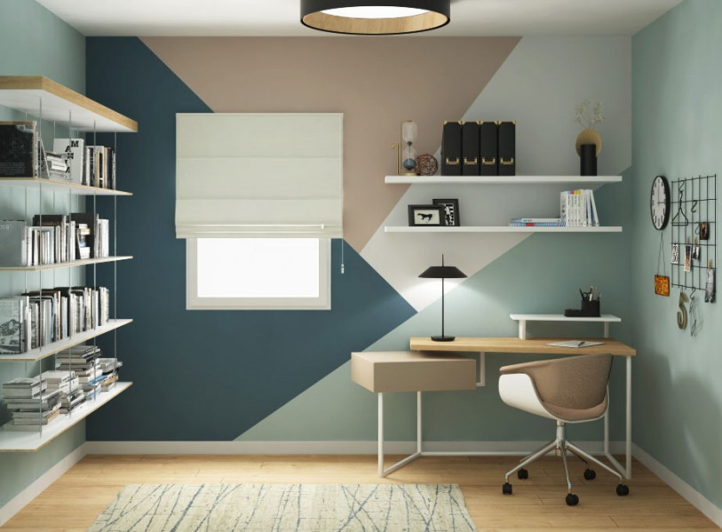 rendering home office Community House