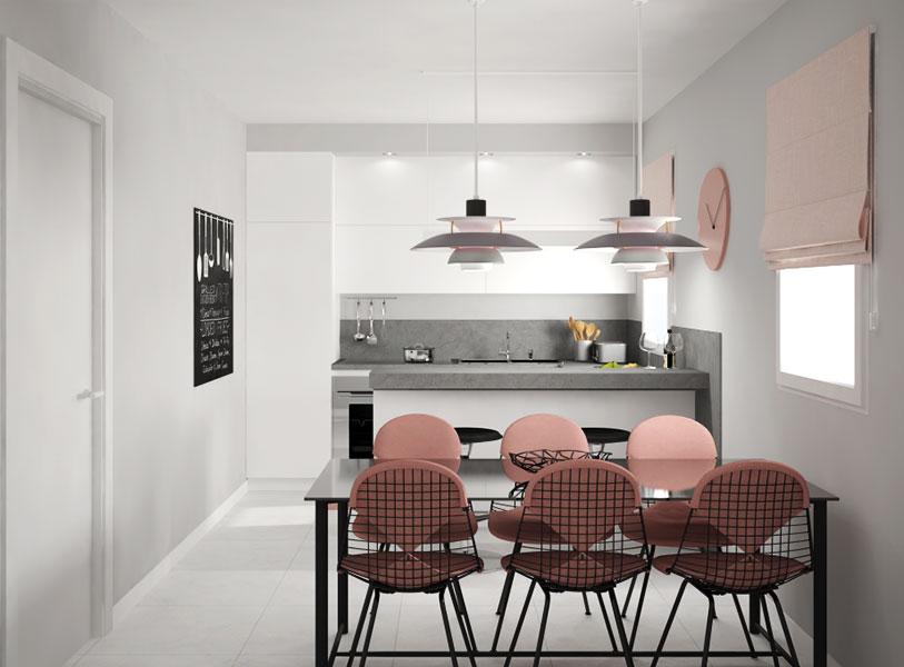 render cucina Community House